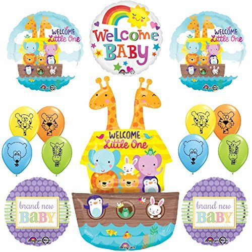 The Ultimate Noahs Ark Jungle Animal Latex Welcome Baby Baby Shower Party Supplies and Balloon Decorations