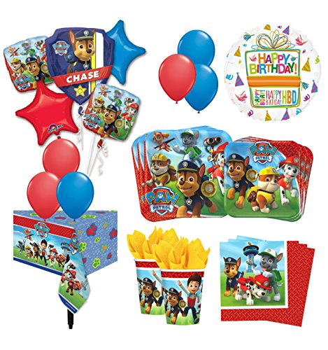 The Ultimate 8 Guest 53pc Paw Patrol Birthday Party Supplies and Balloon Decoration Kit