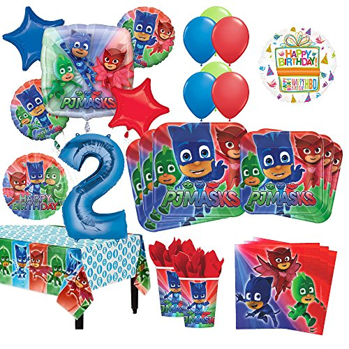 PJ Masks 2nd Birthday Party Supplies 8 Guest Kit