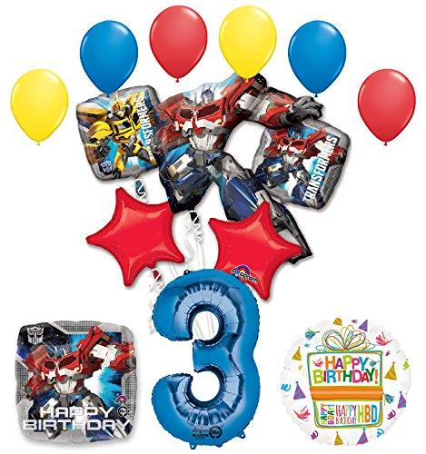 The Ultimate Transformers 3rd Birthday Party Supplies and Balloon Decorations