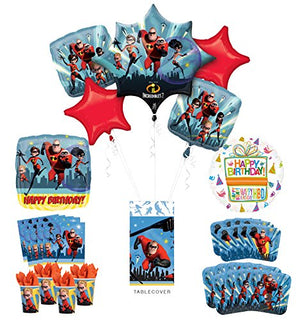 Incredibles Party Supplies 8 Guests Birthday Balloon Bouquet Decorations