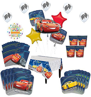 Disney Cars Birthday Party Supplies 8 Guest Kit   52 pc