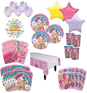 JoJo Siwa Birthday Party Supplies 16 Guest Kit and Balloon Bouquet Decorations