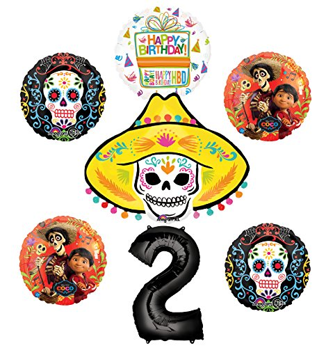 Coco Party Supplies 2nd Birthday Balloon Bouquet Decorations