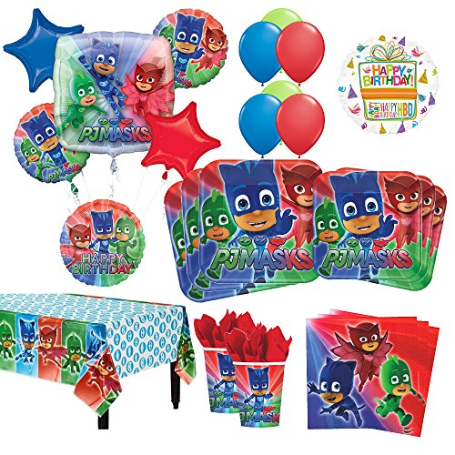 PJ Masks Birthday Party Supplies 8 Guest Kit   54 pc