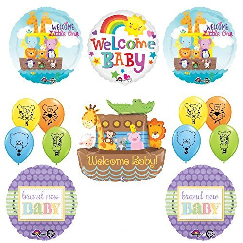 "37"" Noahs Ark Jungle Animal Latex Welcome Baby Baby Shower Party Supplies and Balloon Decorations"