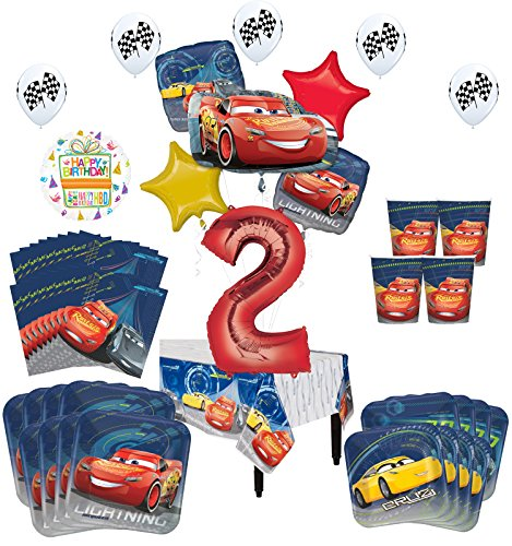 Disney Cars 2nd Birthday Party Supplies 8 Guest Kit