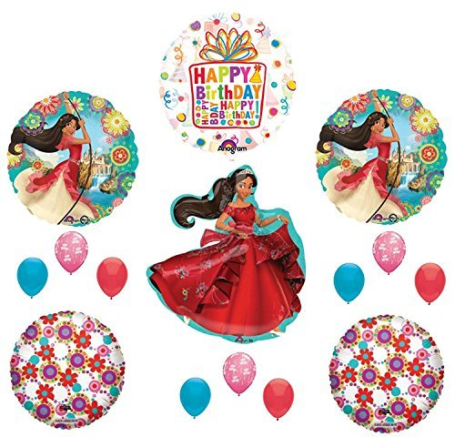 ELENA OF AVALOR 15 pc Happy Birthday Party Balloons Decoration Supplies