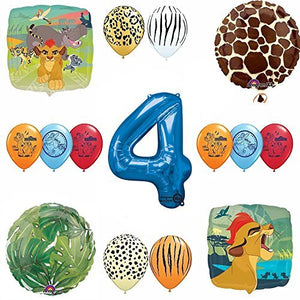 Lion Guard Safari 4th Birthday Party SuppliesBalloon Decoration Kit