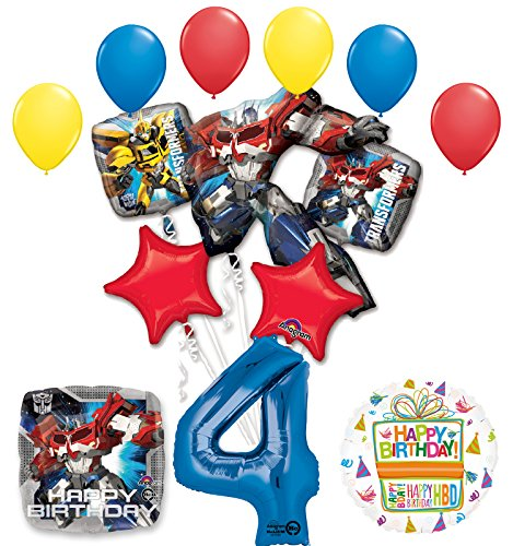 The Ultimate Transformers 4th Birthday Party Supplies and Balloon Decorations