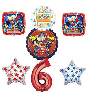 DC Super Hero Girls 6th Birthday Party Supplies and Balloon Decorations