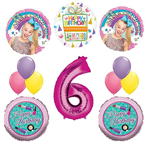 JoJo Siwa Party Supplies Dream Crazy Big 6th Birthday Balloon Bouquet Decorations