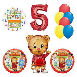 Daniel Tiger Neighborhood 5th Birthday Party Supplies and Balloon Decorations