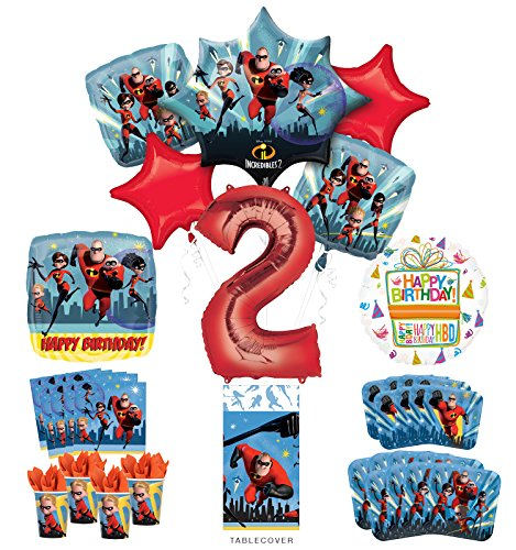 Incredibles Party Supplies 8 Guests 2nd Birthday Balloon Bouquet Decorations