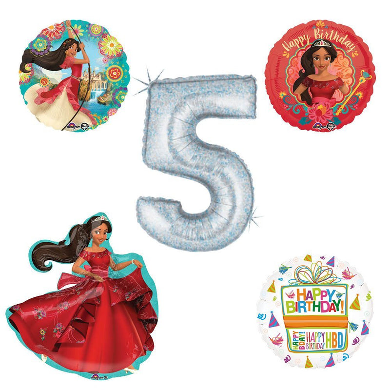 Princess Elena Of Avalor Holographic 5th Birthday Party Balloon Kit Decorating Supplies
