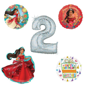 Princess Elena Of Avalor Holographic 2nd Birthday Party Balloon Kit Decorating Supplies