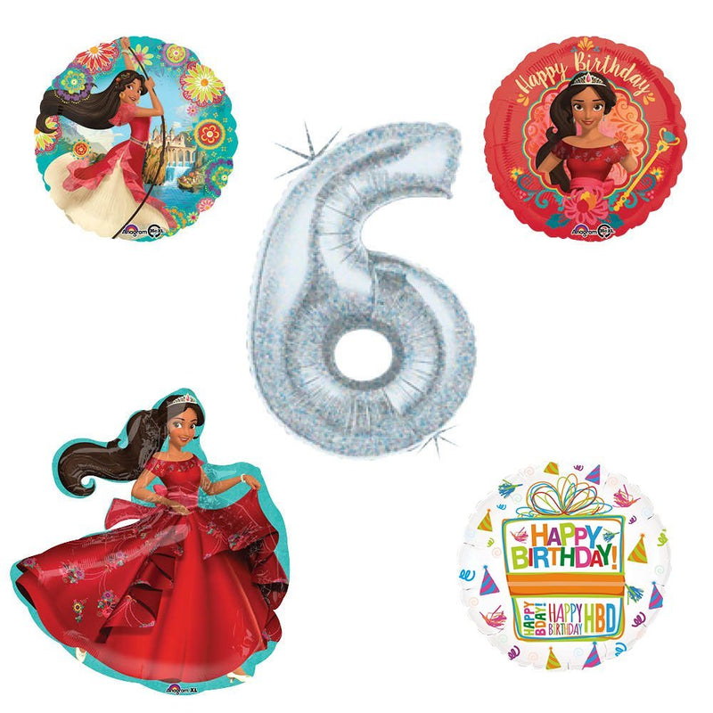 Princess Elena Of Avalor Holographic 6th Birthday Party Balloon Kit Decorating Supplies