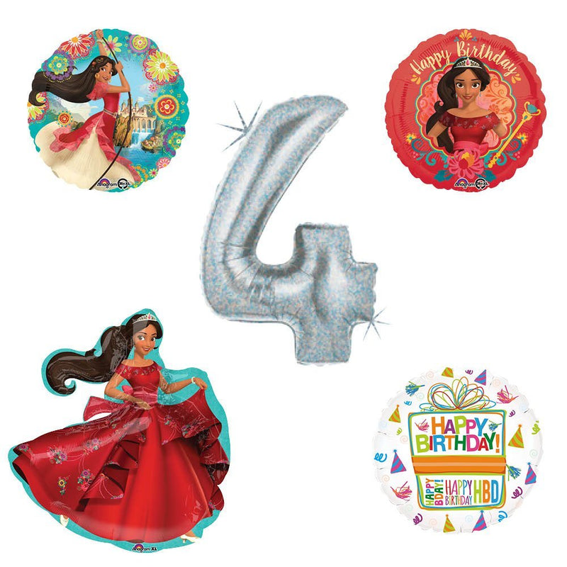 Princess Elena Of Avalor Holographic 4th Birthday Party Balloon Kit Decorating Supplies