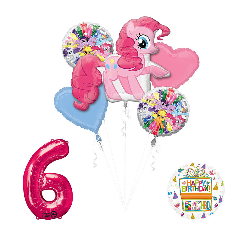 My Little Pony Pinkie Pie 6th Birthday Party Supplies and Balloon Decorations