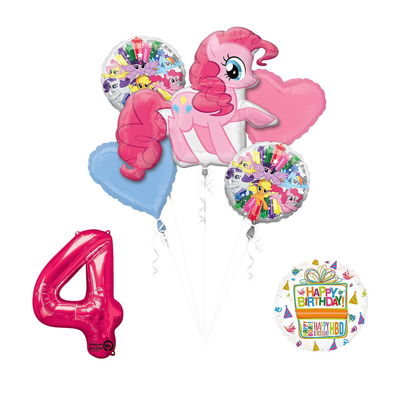 My Little Pony Pinkie Pie 4th Birthday Party Supplies and Balloon Decorations
