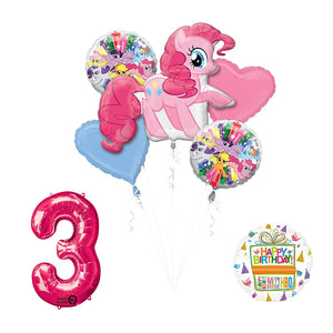 My Little Pony Pinkie Pie 3rd Birthday Party Supplies and Balloon Decorations