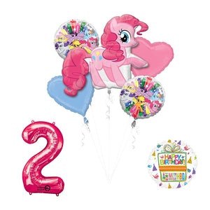 My Little Pony Pinkie Pie 2nd Birthday Party Supplies and Balloon Decorations