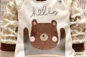 2 pc Teddy Bear Baby Outfit - Smart Cute Babies