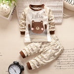 2 pc Teddy Bear Baby Outfit- Smart Cute Babies