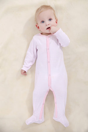Striped Navy Onesie - Smart Cute Babies