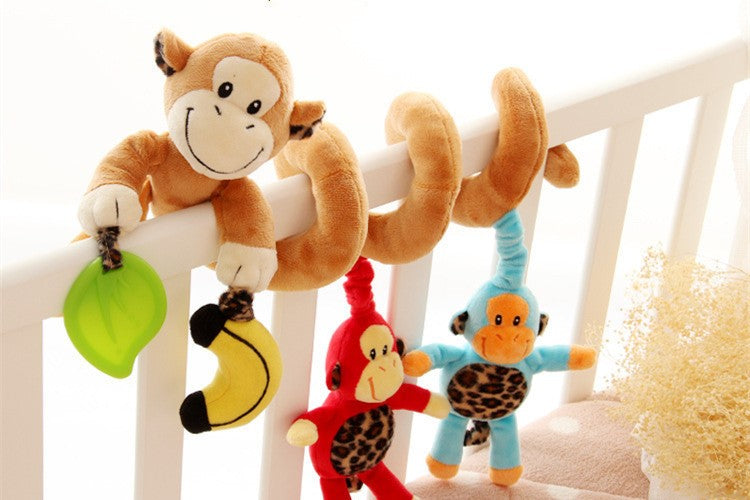 Stuffed Animal Hanging Educational Baby Rattle Toy - Smart Cute Babies