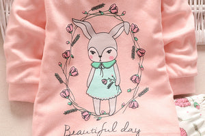 2-pc Pink Bunny Set - Smart Cute Babies