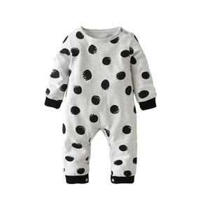 Adorable Long-sleeved, Dotted 'Wasn't Me'  Jumpsuit - Smart Cute Babies