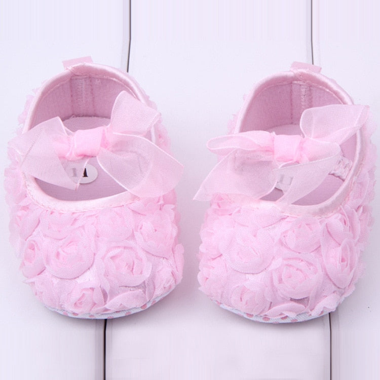 Baby Princess Rose Flower Shoes - Smart Cute Babies