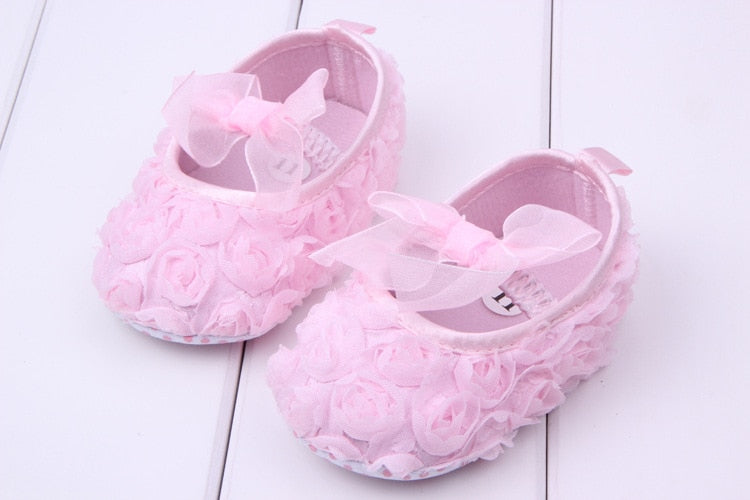Princess Rose Flower Baby Shoes - Smart Cute Babies