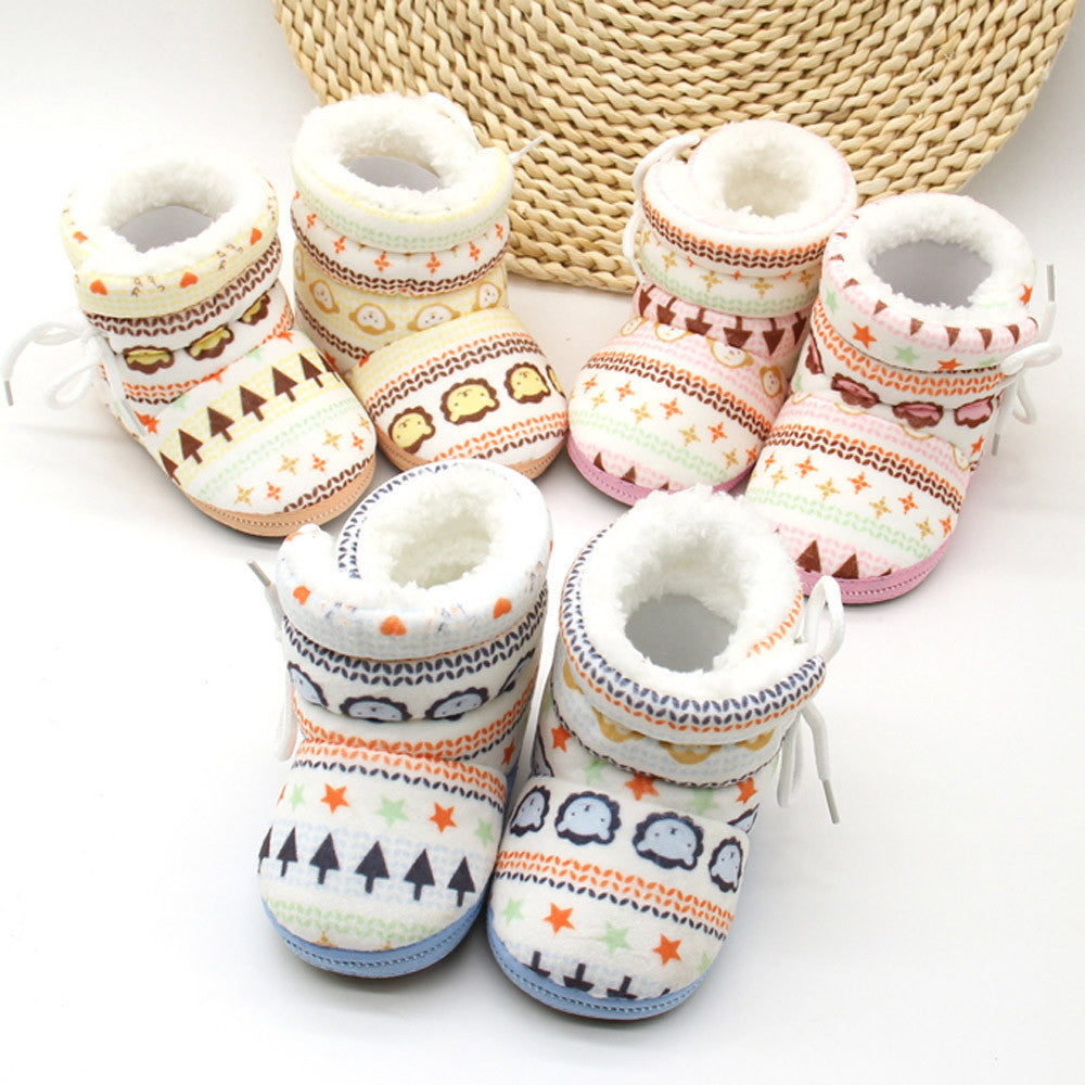 Soft Baby Bear Print Boots - Smart Cute Babies
