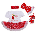 Adorable My First Christmas Tutu Popover Outfit - Smart Cute Babies