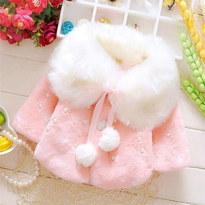Lovely Faux Fur Coat - Smart Cute Babies