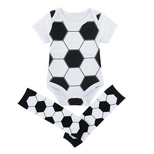 Soccer Baby Romper with Leg Warmers - Smart Cute Babies