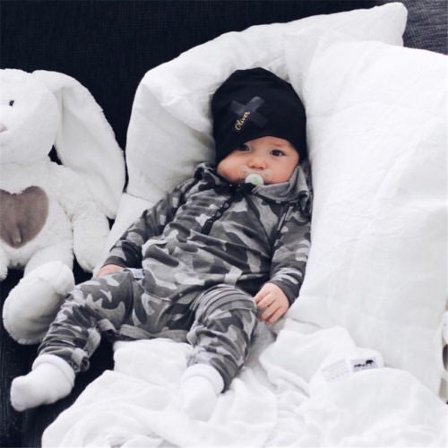 Adorable Camo Baby Romper - Smart Cute Babies
