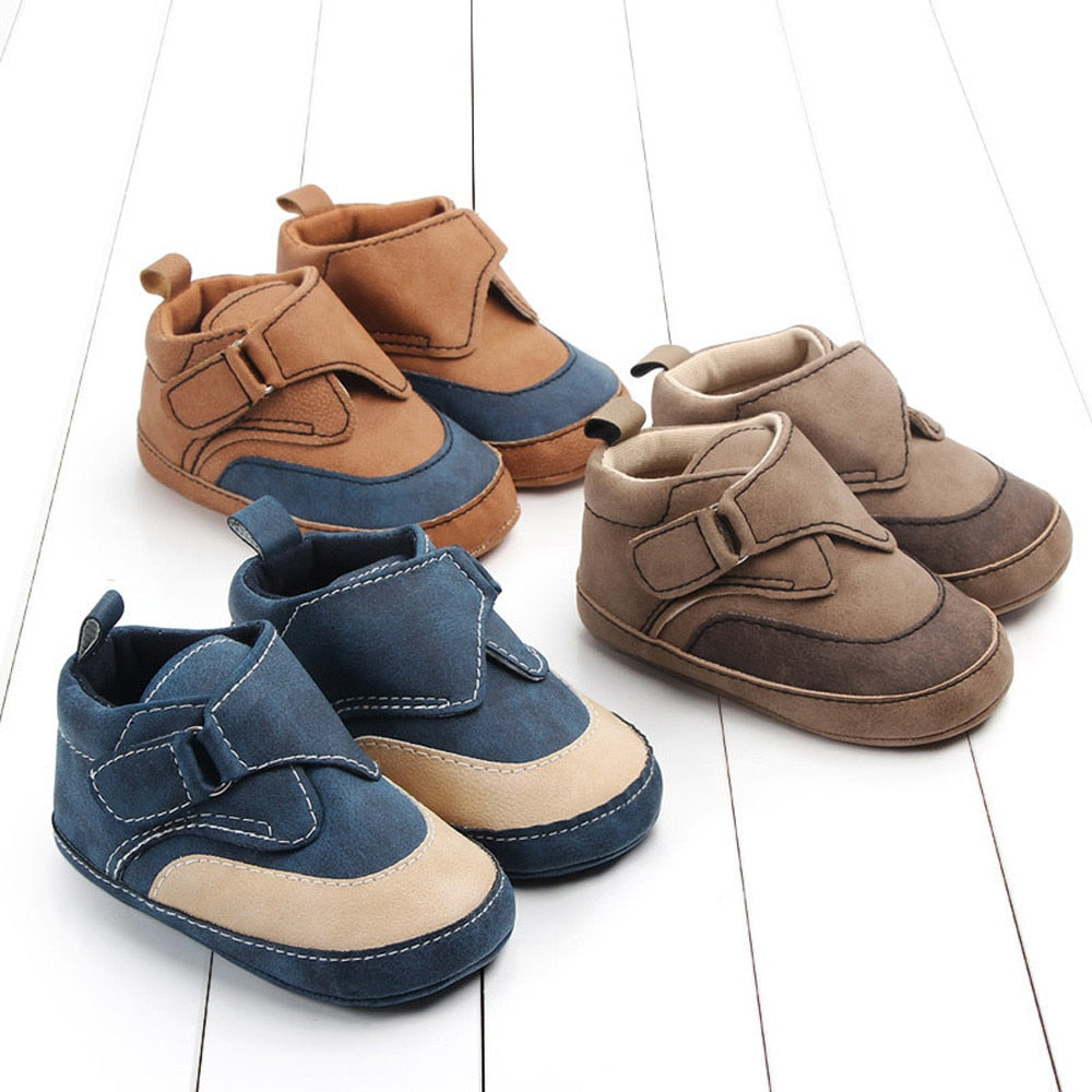 Adorable Cotton Patchwork Babies Shoes