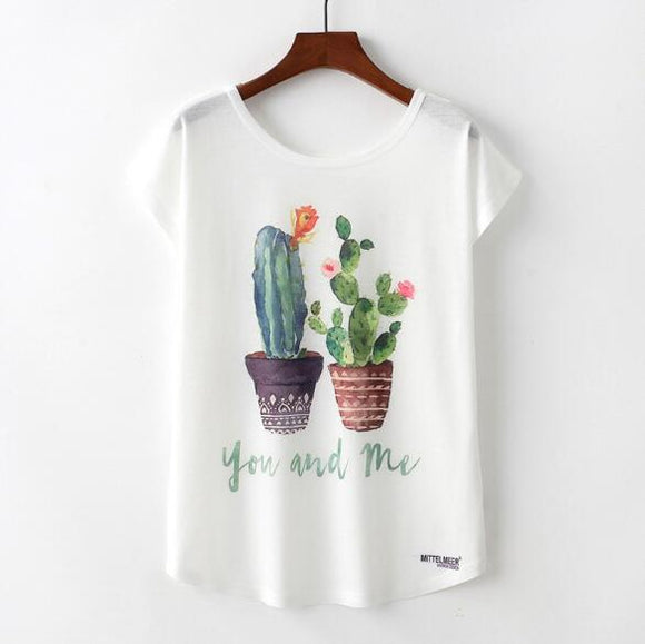 Cactus Woman T Shirt