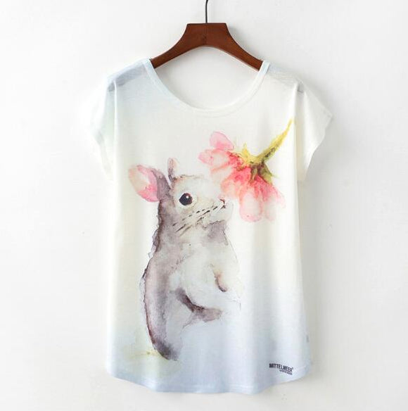 Bunny Woman T Shirt