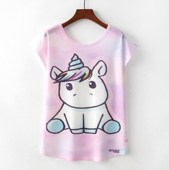 Cute Unicorn Woman T Shirt