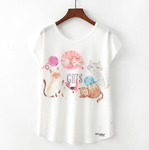 Cats Woman T Shirt