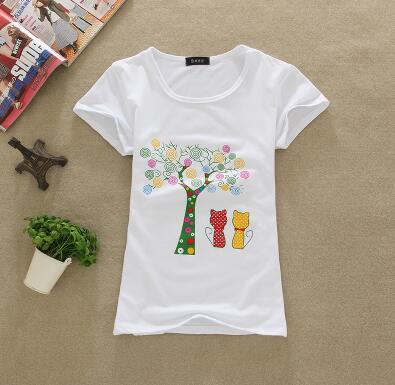 Colored Tree Women Tshirts - Crateen