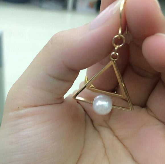 Pearl Golden Earrings for women