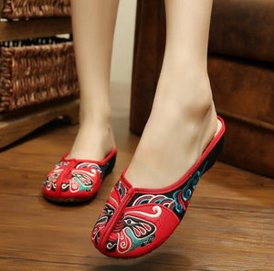 Butterfly Decored Fabric Shoes - Crateen