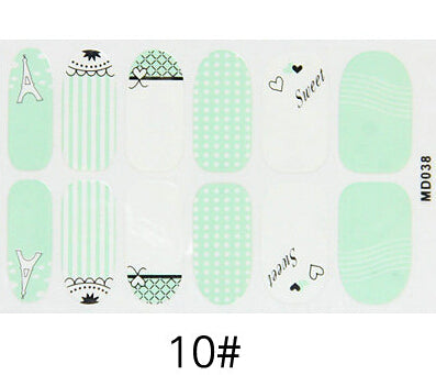 Nail Stickers Style 106 - Crateen