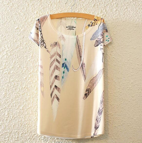 Feathers Woman T Shirt