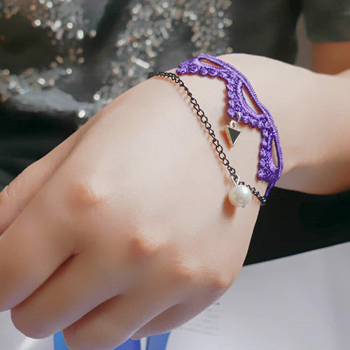 Elegant Purple Fashion Bracelet - Crateen